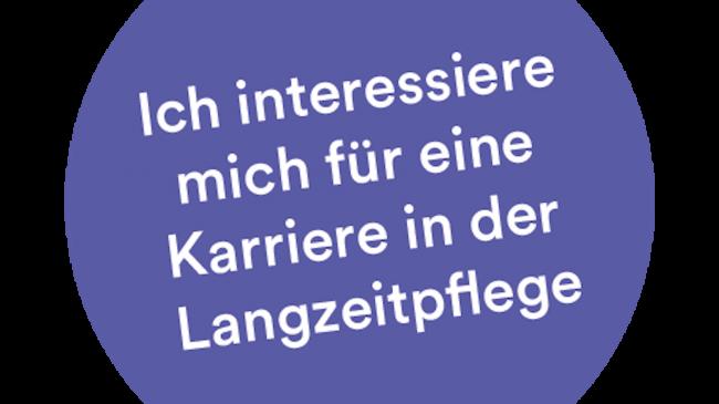 Langzeitpflege Button Info Kampagne